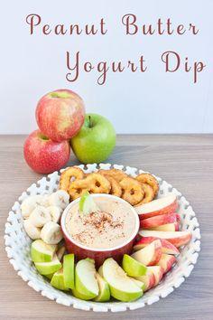 Peanut Butter Yogurt Dip | My Cooking Spot
