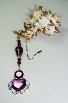 Purple Crystal,  Ceiling Fan Chain Pull,  One of a Kind,  Purple Home Decor,  Housewarming Gifts, Purple Gifts,  Ready To Ship,  Home Decor by EarthDreamsbySunLi on Etsy