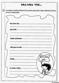 80 Atividades de Produção textual ou redação para o 4º Ano - Criação de texto e trabalho da escrita - ESPAÇO EDUCAR Learn Brazilian Portuguese, Portuguese Lessons, Learn English, Special Education, Homeschool, Bullet Journal, Teaching, Activities, Writing