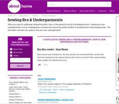 Make Your Own Custom-Fit Undergarments with These Sewing Patterns: Bra and Undergarments Pattern Sources and Supply Sources