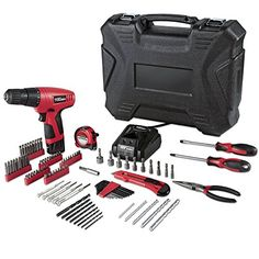 Special Offers - Cheap 12Volt Cordless Long-Lasting Lithium-Ion Battery Drill Driver Set with 100 pc Project Kit and 18-position clutch this Power Tools it also a Battery powered Electric Screwdriver - In stock & Free Shipping. You can save more money! Check It (October 12 2016 at 09:48PM)…