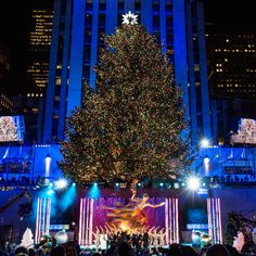 wonderful show tonight at the rockefeller center christmas tree lighting the tree is gorgeous