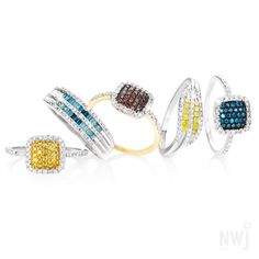 Brand Collection: Gold Diamond Rings at NWJ *Valid until Sept 2013 Gold Jewelry, Jewelry Accessories, Fine Jewelry, Jewellery, Gold Diamond Rings, Silver Rings, Brand Collection, Druzy Ring, Jewels