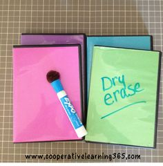 Upcycle DVD cases to mini dry erase boards