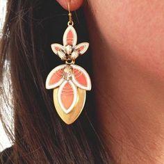 Hibiscus Chandelier Earrings & Gold Jewelry | Stella & Dot