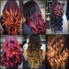 Beautiful Ombre hair colors.