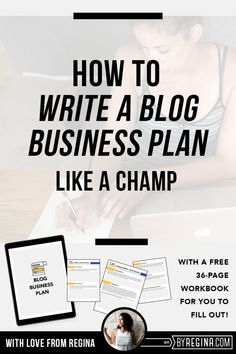 How to Write a Blog Business Plan (+ a free business plan workbook)