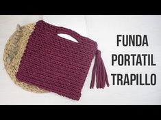 Bolso de trapillo con solapa redonda - YouTube