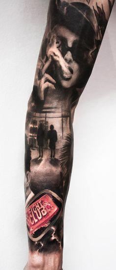 Fight Club tattoo by