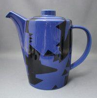 Kaffeekanne Arabia, kahvikannu, Domino Combo, Howard Smith Tea Pots, Pottery, Coffee, Tableware, Blue, Ceramica, Kaffee, Dinnerware, Tablewares