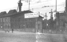 Główna brama Stoczni Schichaua w Gdańsku (po wojnie - tzw. III brama Stoczni Gdańskiej, koło przystanku SKM Gdańsk Stocznia). Danzig, Poland, Louvre, Street View, Building, Travel, Pictures, City, Viajes