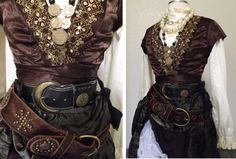 Women's Pirate Costume - Including Jewelry, A Blouse, Skirts, Vest Belts - Medium Gypsy / Victorian Mode Steampunk, Steampunk Pirate, Steampunk Costume, Steampunk Fashion, Gypsy Costume, Gothic Fashion, Pirate Garb, Pirate Dress, Female Pirate Costume