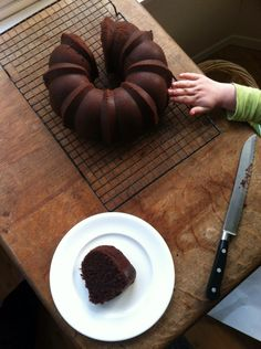 Gluten-free chocolate bundt cake, adapted from Joy the Baker.