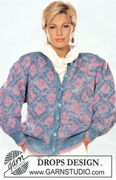 """DROPS jacket in """"Macao"""" with pattern in """"Vienna"""". Size M – L. - Free pattern by DROPS Design"""