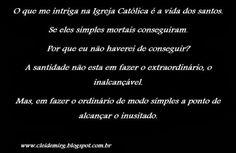 Cleidemir Gonçalves: O que me intriga na Igreja Católica...