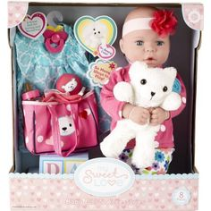 My Sweet Love 18 inch Baby Doll Gift Set with Bear, Size: Baby Dolls For Kids, Baby Kids, Bear Toy, Teddy Bear, Baby Doll Accessories, Soft Dolls, Imaginative Play, Love Is Sweet, Bedtime