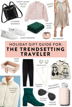 Holiday gift guide for the trendsetting traveler.   Unique gifts at every price point for the fashionable traveler in your life!