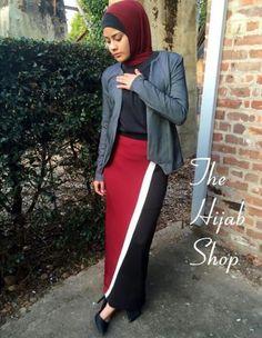 Love that hijabis skirt