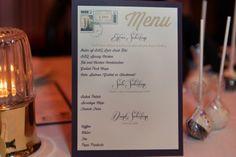 love letter themed menu