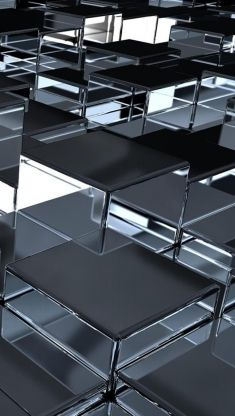 cubes surface metal reflection iphone 5 wallpaper