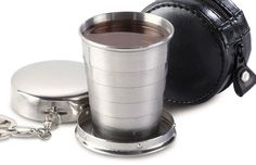 Collapsible Shot Glass. Bryent would love this!