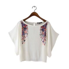 women fashion sequined short batwing sleeve blouses loose o neck chiffon shirts ladies casual brand stylish tops DT558