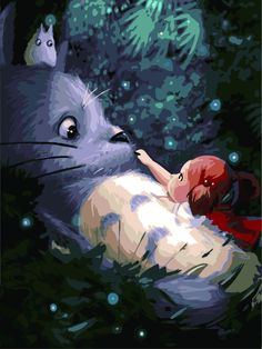 My Neigh Totoro painting oil o canvas painting