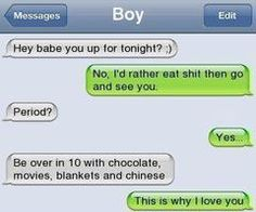 thats the best boyfriend ever.