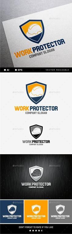 Work Protector: Object Logo Design Template created by soponyono. Logo Design Template, Logo Templates, Company Work, Company Slogans, Eps Vector, Logo Inspiration, Logos, Spiderman, Icons