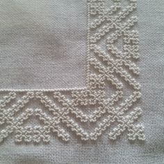 This Pin was discovered by Neş Blackwork Embroidery, Hand Embroidery Videos, Bead Embroidery Patterns, Embroidery Needles, Silk Ribbon Embroidery, Embroidery Techniques, Cross Stitch Embroidery, Cross Stitch Patterns, Embroidery Designs