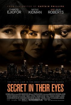 Here's my #moviereview for the remake #SecretInTheirEyes:  http://moviereviewmaven.blogspot.com/2015/11/secret-in-their-eyes-has-satisfying-and.html