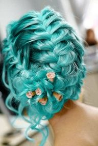 I think I just found my prom hair! Minus the hair colour.