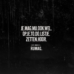 To do list. #rumag