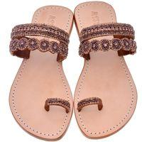 Brown Leather Sandals | Bronze Flip Flops, Brown Wedge Sandals & More