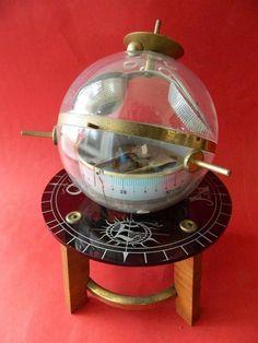 60's West German Sputnik Type Barometer Weather station