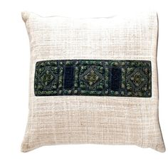 Vintage Dao Textile Pillow No. 2 $ 39.00 These wonderful hemp and vintage textile pillows use patches from the back of Dao women's coats. #pillows#globalstyle #globaltextile #bohemian #loadedtrunk.com