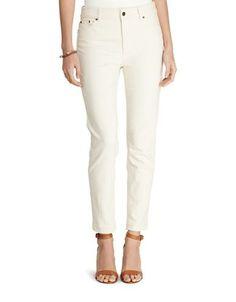 Lauren Ralph Lauren Premier Slim-Fit Ankle Length Jeans Women's Natura