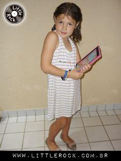Chiara usando vestido #LittleRock