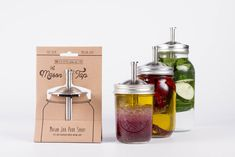 Get creative! From dressings and oils to water and spirits The Mason Tap will help you do more with less using a standard regular mouth canning jar to create infusions of your own at home!