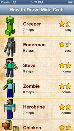 How to Draw: Minecraft edition PRO for iPhone By Vladyslav Chygarov