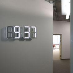 NICE!   White + White Digital LED Clock By Vadim Kibardin https://www.touchofmodern.com/sales/kibardindesign