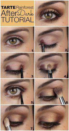 REVIEW & TUTORIAL - TARTE RAINFOREST AFTER DARK TUTORIAL - Makeup   Bellashoot