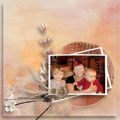 Peach Cobbler Studio Romy - vnučka Terezka a Elinka na vánoce