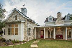 Vanguard Studio Architects designed this stunning farmhouse craftsman-style home in San Antonio, Texas. Texas Farmhouse, Modern Farmhouse, Shiplap Siding, Custom Builders, Organic Modern, Next At Home, Architect Design, Large Windows, Craftsman Style