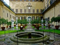 Palazzo Medici-Riccardi, in this garden - you will find a wonderful small gallery showing contemporary art exhibitions,  Florence