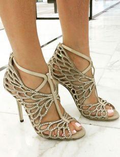 Scalloped crystal heels // Jimmy Choo