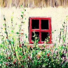 Kirstin McCoy Ireland Landscape - Irish Art - Irish Cottage Garden - Original Oil Paintings For Sale Irish Landscape, Flower Landscape, Ireland Landscape, Irish Cottage, Cottage Art, Cottage Ideas, Oil Painting For Sale, Paintings For Sale, Oil Paintings