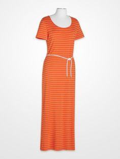 0c9f916ade79 Calvin Klein Orange & White Stripe Maxi Dress Calvin Klein Dress, Striped  Maxi Dresses,
