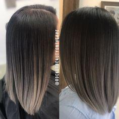 Cabello Brown Blonde Hair, Dark Hair, Hairstyles Haircuts, Pretty Hairstyles, Ombre Hair Long Bob, Hair Inspo, Hair Inspiration, Medium Hair Styles, Short Hair Styles