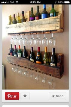 Wine pallet rack   ** Follow all of our boards** http://www.pinterest.com/bound4burlingam/